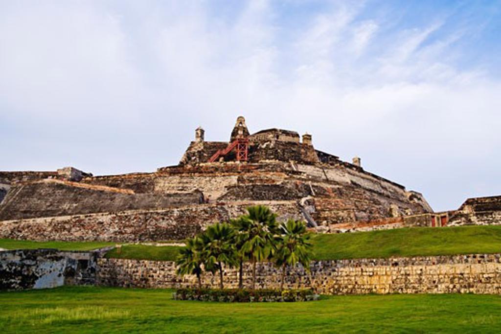 Stock Photo: 1828R-30105 Castillo de San Felipe de Barajas Cartagena, Colombia