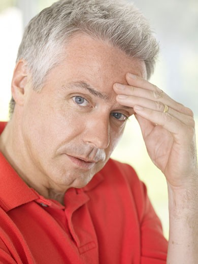 Stock Photo: 1828R-30432 Man with Headache