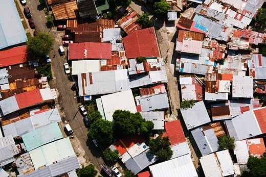 Stock Photo: 1828R-30629 Shanty Houses, Panama City, Panama