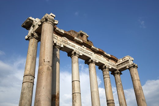 Stock Photo: 1828R-31453 Temple of Saturn, Rome, Italy