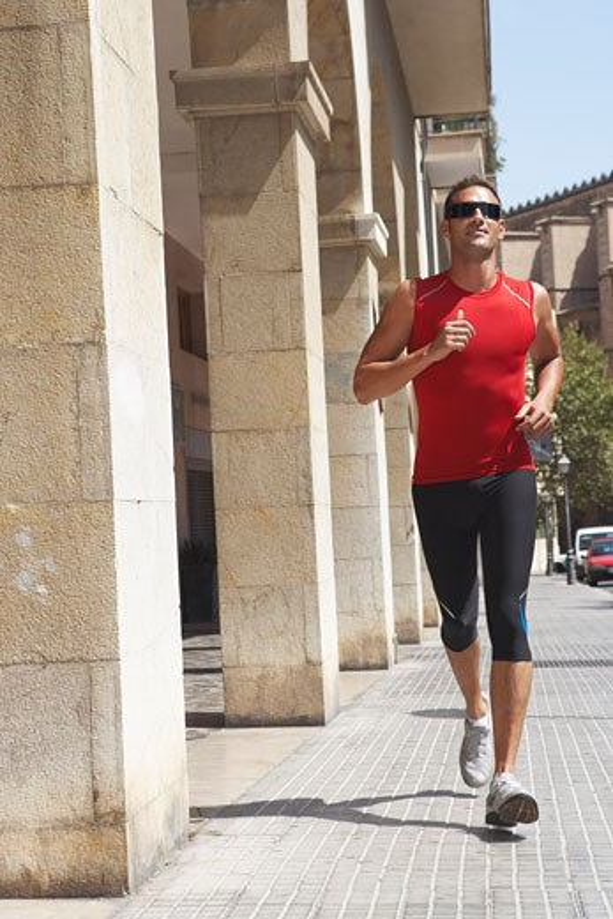 Man Jogging    : Stock Photo