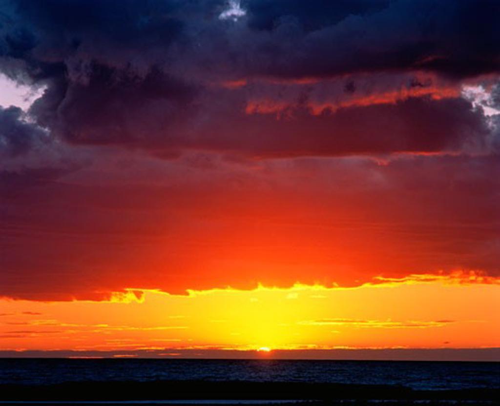 Sunset over Atlantic Ocean Nova Scotia, Canada    : Stock Photo