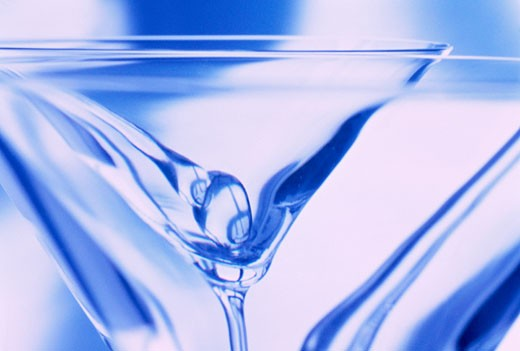 Stock Photo: 1828R-3304 Close-Up of Martini Glasses