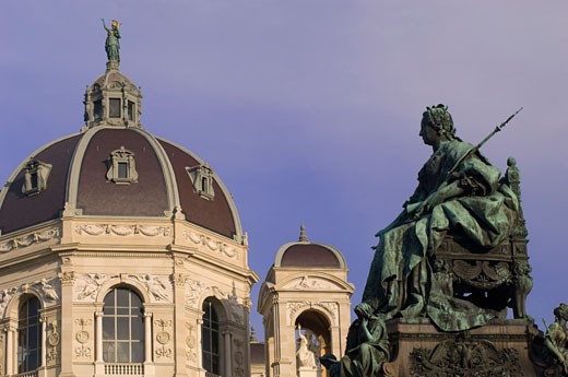 Maria Theresa Monument, Kunsthistoriches Museum, Vienna, Austria    : Stock Photo