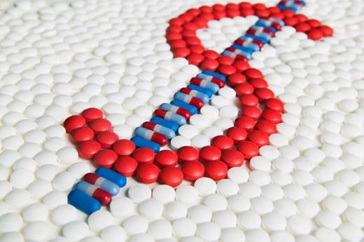 Dollar Sign Made out of Pills    : Stock Photo