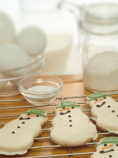 Stock Photo: 1828R-33546 Baking Christmas Cookies