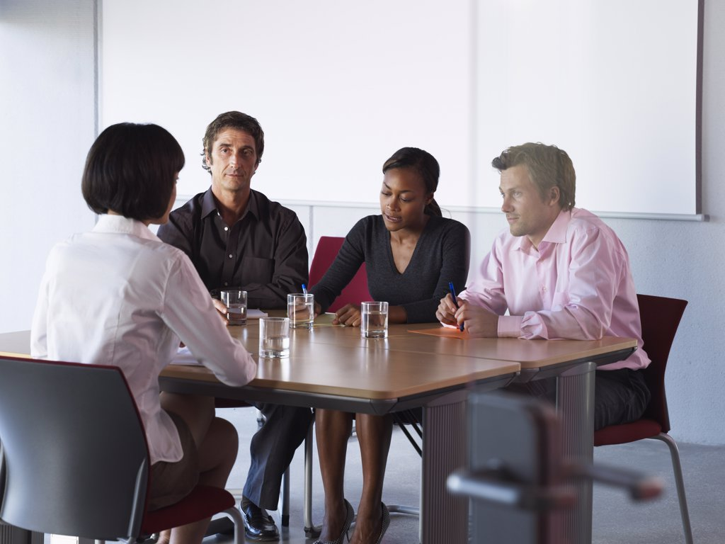 Stock Photo: 1828R-33728 Business People at Meeting