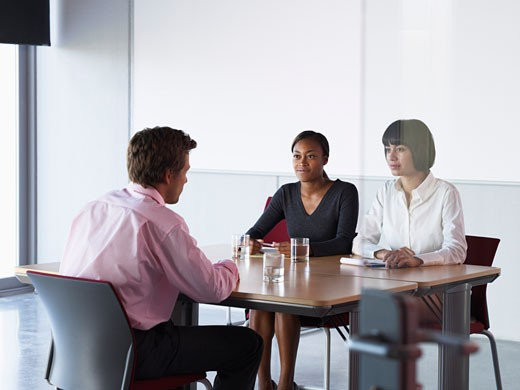 Stock Photo: 1828R-33730 Business People at Meeting
