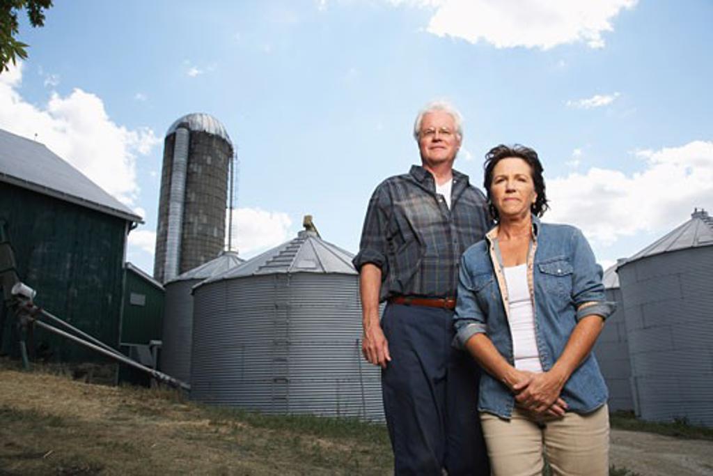 Stock Photo: 1828R-33824 Portrait of Couple on Farm