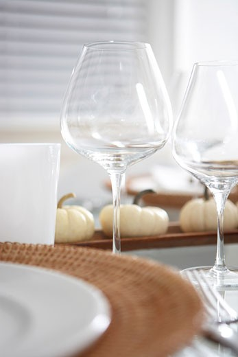 Stock Photo: 1828R-34007 Table Set For Thanksgiving