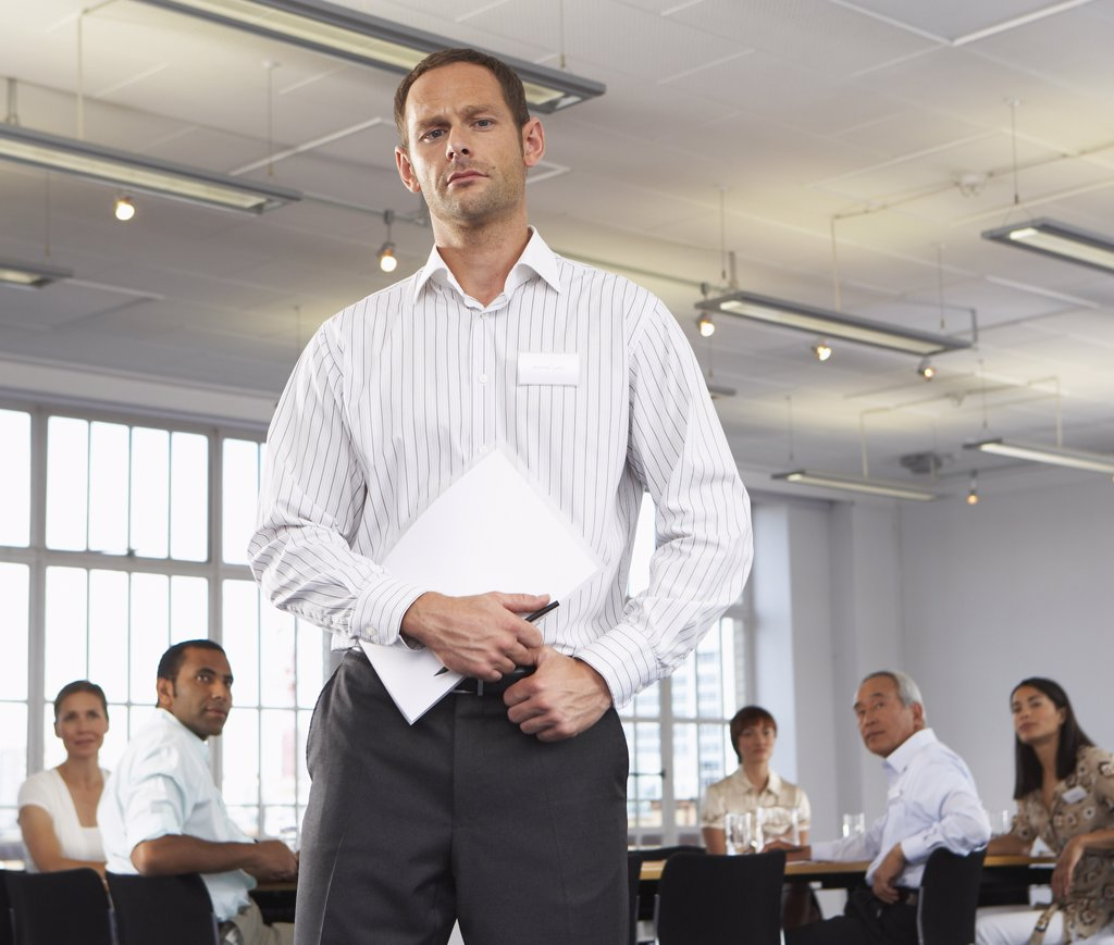Businessman in Boardroom    : Stock Photo