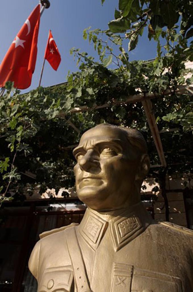 Bronze Statue of Ataturk, Cappadocia, Turkey    : Stock Photo