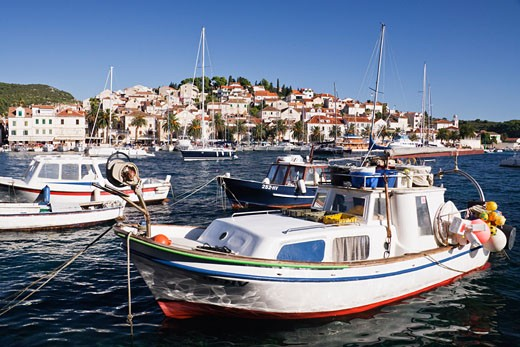 Stock Photo: 1828R-34456 Boats in Harbour, Hvar Town, Hvar, Croatia