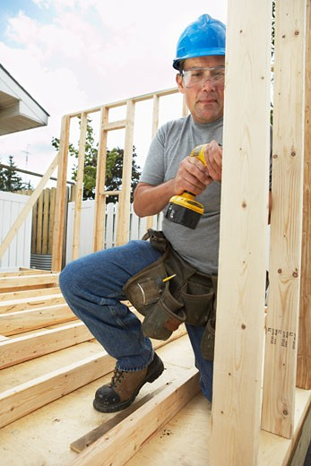 Stock Photo: 1828R-34870 Construction Worker Working