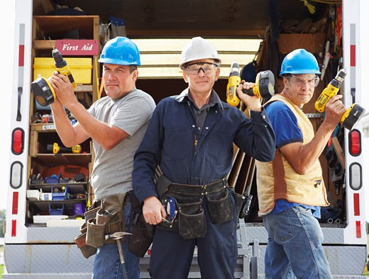 Stock Photo: 1828R-34905 Portrait of Construction Crew
