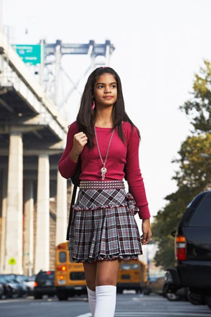 Portrait of Teenaged Girl    : Stock Photo