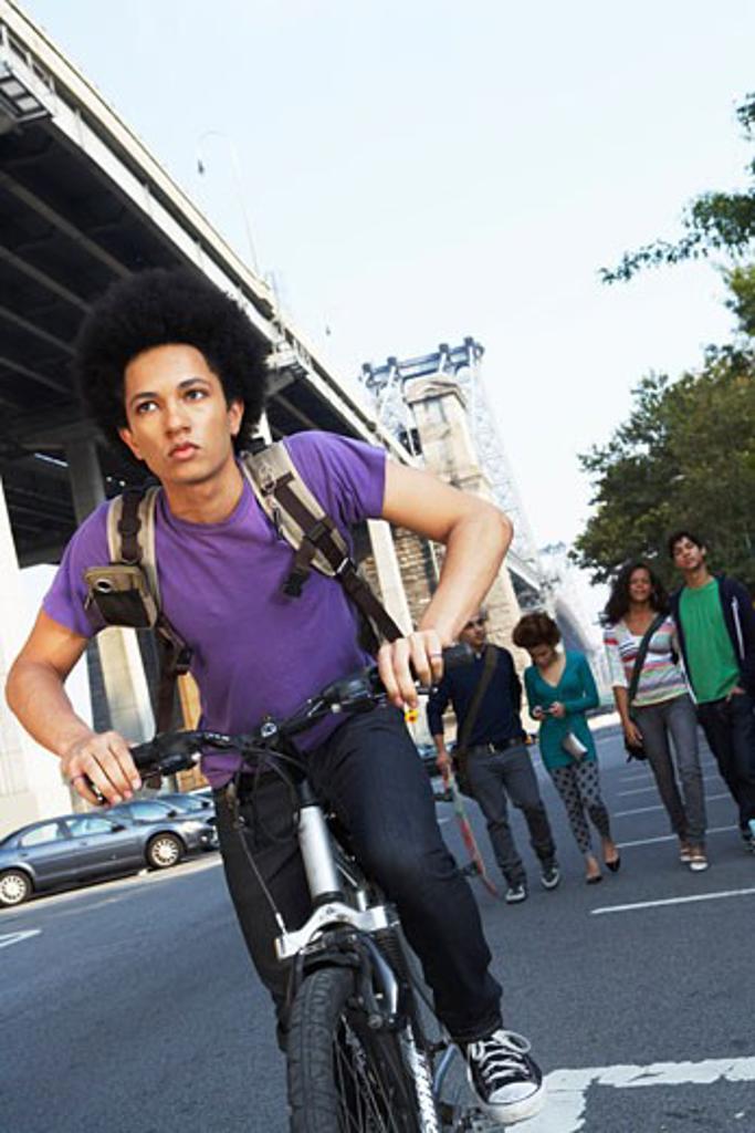 Stock Photo: 1828R-35177 Teenaged Boy on Bicycle