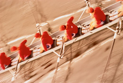 Stock Photo: 1828R-3538 Blurred View of Rowers