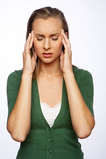 Stock Photo: 1828R-35713 Woman with Headache