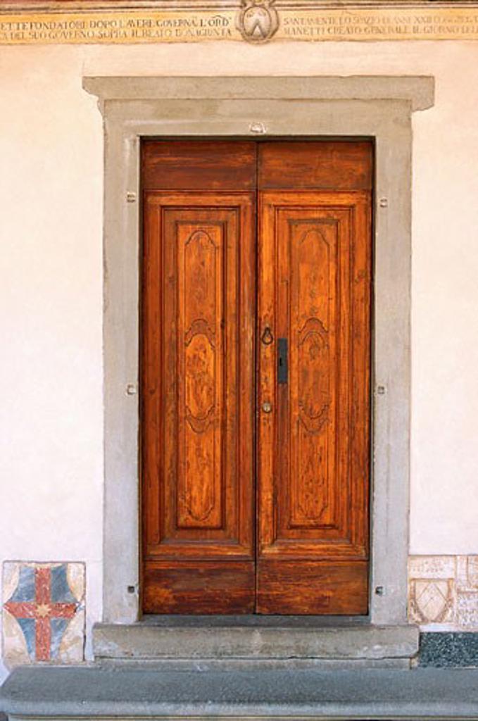Door, Florence, Tuscany, Italy    : Stock Photo