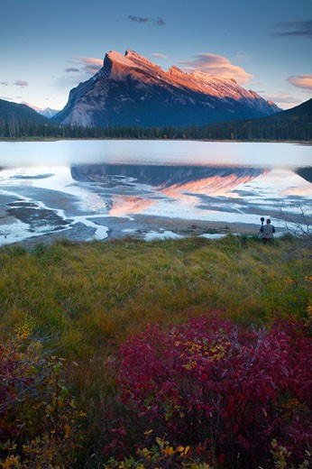 Stock Photo: 1828R-36424 Mount Rundle and Vermillion Lakes, Banff National Park, Alberta, Canada