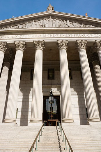 Stock Photo: 1828R-36975 Exterior of Supreme Court Building, New York City, New York, USA