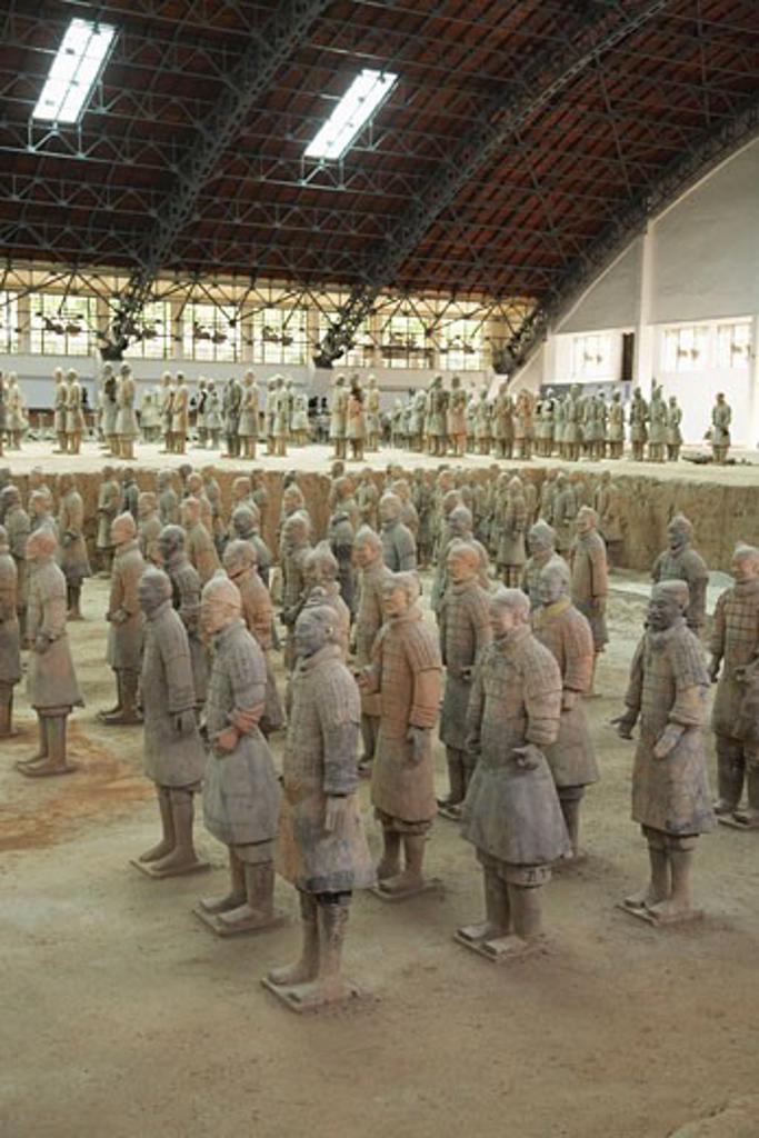 Stock Photo: 1828R-37004 Terracotta Warriors, Xian, China