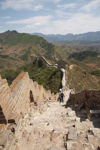 Stock Photo: 1828R-37007 The Great Wall From Jinshanling to Simatai, China