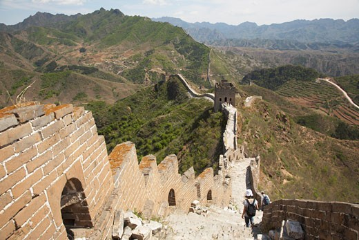 The Great Wall From Jinshanling to Simatai, China    : Stock Photo