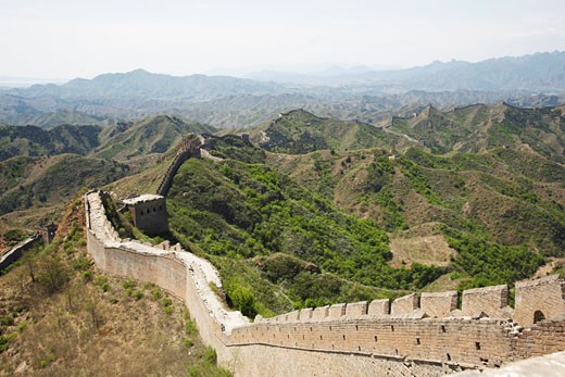 Stock Photo: 1828R-37012 The Great Wall From Jinshanling to Simatai, China