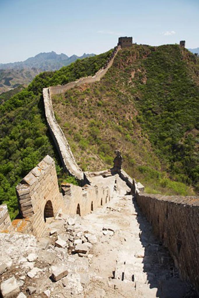 Stock Photo: 1828R-37013 The Great Wall From Jinshanling to Simatai, China
