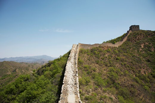 Stock Photo: 1828R-37015 The Great Wall From Jinshanling to Simatai, China