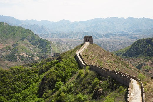 Stock Photo: 1828R-37017 The Great Wall From Jinshanling to Simatai, China
