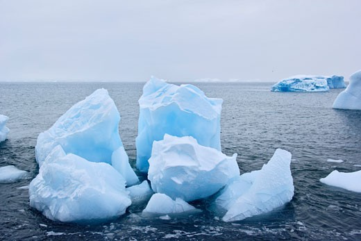 Stock Photo: 1828R-37096 Ice in the Water, Brown Bluff, Antarctica