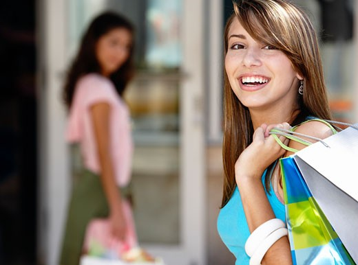 Girl with Shopping Bags    : Stock Photo