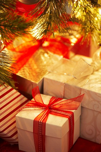 Christmas Presents Under the Tree    : Stock Photo