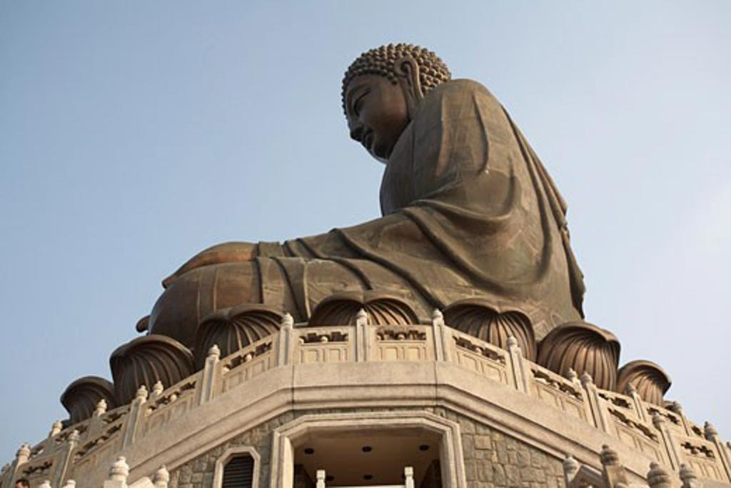 Buddha Statue, Po Lin Monastery, Lantau Island, Hong Kong, China    : Stock Photo