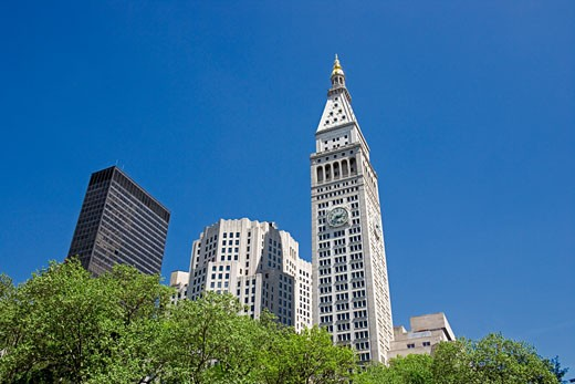 Stock Photo: 1828R-37906 View of Met Life Tower From Madison Square Park, New York City, New York, USA