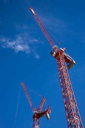 Crane at Construction Site, Las Vegas, Nevada, USA    : Stock Photo