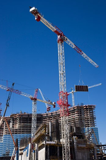 Construction at CityCenter Las Vegas, Las Vegas, Nevada, USA    : Stock Photo