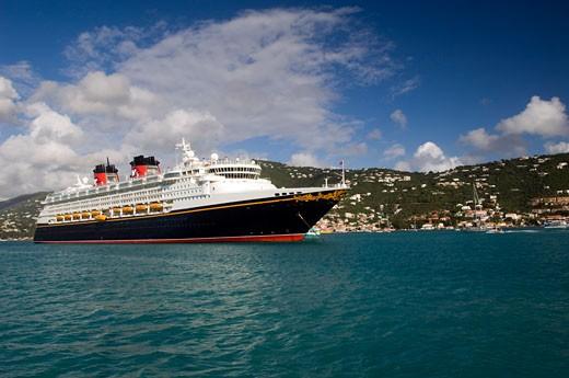 Cruise Ship, Saint Thomas, US Virgin Islands    : Stock Photo