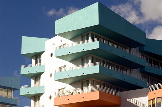 Building Exterior, South Beach, Miami Beach, Miami, Florida, USA    : Stock Photo