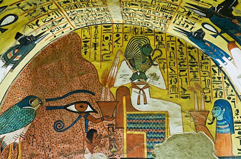 Stock Photo: 1828R-39885 Osiris, Tomb of Pashedu, Deir Al-Medina, West Bank, Luxor, Egypt