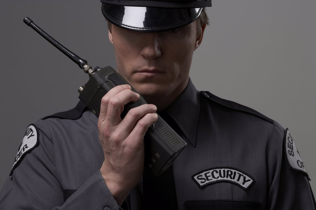 Portrait of Security Guard    : Stock Photo