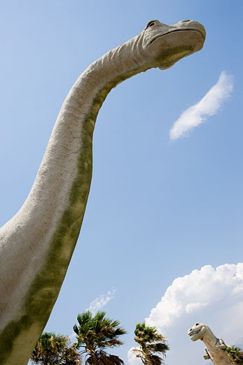 Stock Photo: 1828R-41579 Close-Up of Cabazon Dinosaur, Cabazon, California, USA