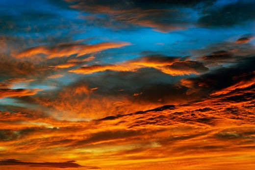 Stock Photo: 1828R-41760 Clouds at Sunset, Darwin, Northern Territories, Australia