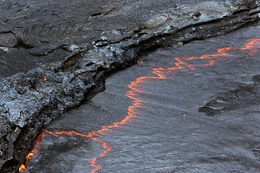Magma in Lava Lake, Erta Ale, Danakil Desert, Ethiopia, Africa    : Stock Photo
