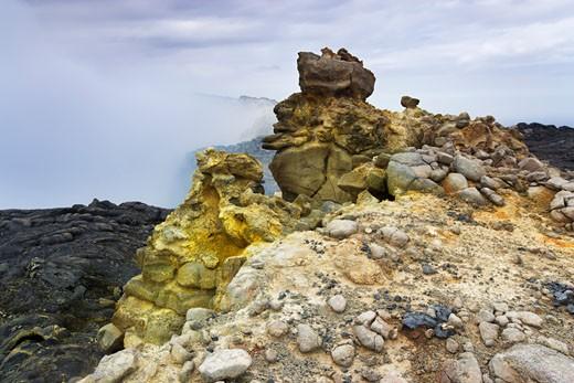 Stock Photo: 1828R-41861 Sulfurous Fumarole, Erta Ale, Danakil Desert, Ethiopia, Africa