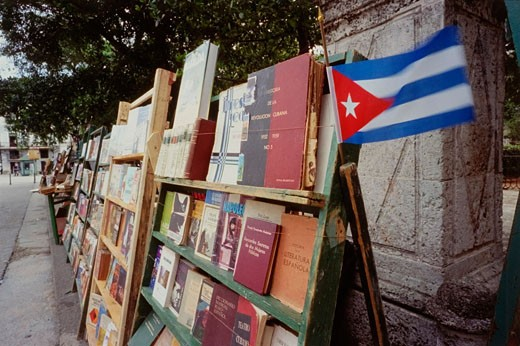 Stock Photo: 1828R-42436 Used Book Market, Havana, Cuba