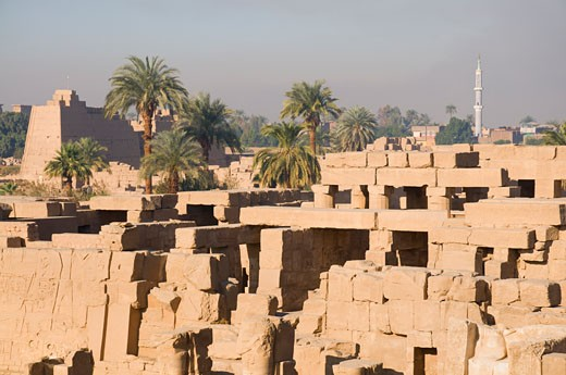 Stock Photo: 1828R-42756 Temple of Amun, Karnak, Luxor, Egypt